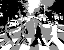 Abbey road - beatles LP cover by aaronu