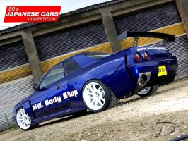 Nissan Skyline GT-R32 BlueBullet (for Maxidesign) by TeofiloDesign