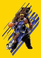 LeBron Unstoppable by akyanyme