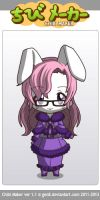ChibiMaker - The Yarn Bunny winter outfit by theyarnbunny
