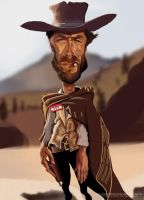 Clint Eastwood caricature 2 by Steveroberts