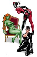 Gotham City Sirens Color by ESO2001
