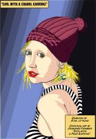 The Girl With The Chanel Earring by Pulpfactory