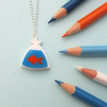 Fish In A Bag Necklace by fairy-cakes
