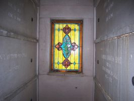 Crypt Stained Glass Window by seiyastock