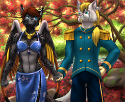 Comm: Catwing and Rahk'ul by Mykiio