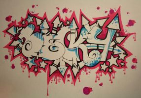 Becky graffiti by vetalas