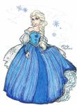 Queen Elsa's Gown by Kiyomi-chan16