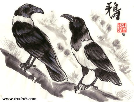 Two Crows by Foxfeather248