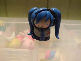 Polymer Clay Hatsune Miku by Fluffybunnycharms