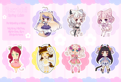 [4 LEFT - OPEN] Heartdoll Spring Collab by Valyriana