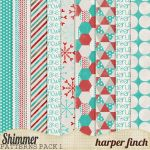 Shimmer, Pattern Paper Pack One by harperfinch