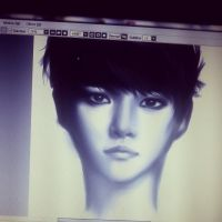 Baekhyun Digital art 2 by thumbelin0811
