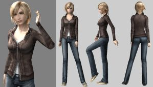 Aya Brea Retexture...in Dr. Blank Clothes :D by Dr-BlankPLS