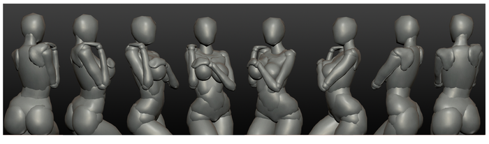 female poseable figure model 2-pose1 by spectra-unknown
