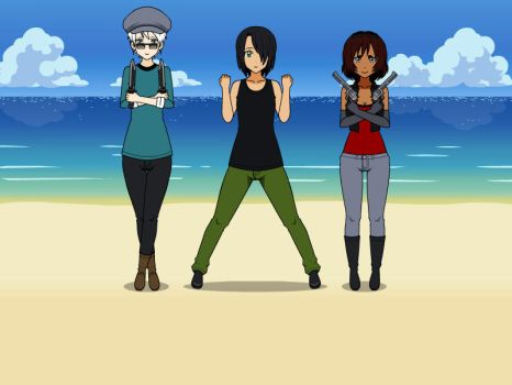 One Piece OC: Triple Trouble Trio (revamp) by Roronoa-D-Riku