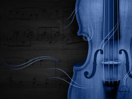 Blue Violin by NourhanB
