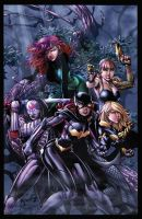 Birds of Prey Color Battle by BDStevens