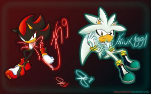 Wallpaper shadow759 and Silverknux1991 by idolnya