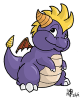 Chubby Spyro in Color by TakShadoWing