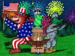 A Furry 4th of July by WalterRingtail