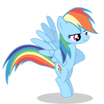 Rainbow Dash Vector by dragondude51796