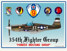 354th Fighter Group by yankeedog