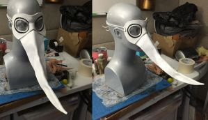 Excalibur Soul Eater Cosplay Leather Mask by Angelic-Artisan