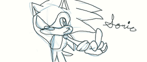 my first drawing of sonic ever! by AskTuxSonicsSister