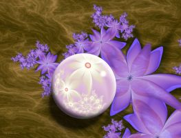 Marble With Purple Flowers by Shadoweddancer
