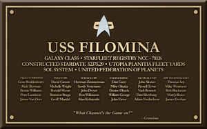 U.S.S. Filomina Plaque by SpiderTrekfan616