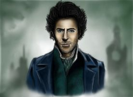 Robert Downey Jr. as Holmes by ExtremlySelfishChild