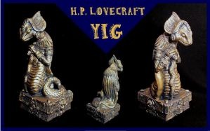 H.P. Lovecraft - Yig  'The Father of Serpents' by zombiequadrille