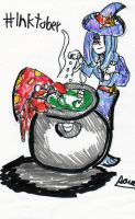 Sucy and Parasect Inktober by Cartoontriper