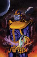 .....Thanos the Mad Titan..... by thelearningcurv