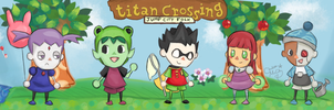 Teen Titans: Titan Crossing by RedUmbrellaMonster