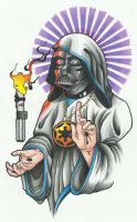 Darth Vader Jesus Colour by funkt-green