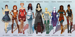The Muses by tbdoll
