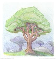 Color Pencil Practice: A Tree by StellarWind