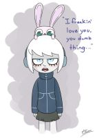 Zero and her bunny by Rogerbacon