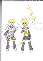 kagamine Rin and Len by colorfulldrawer