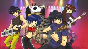 Ranma Metal Band by Ollinatl