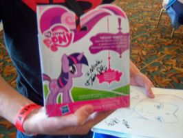 Twilight Toy signed by Tara Strong by DearestLeader