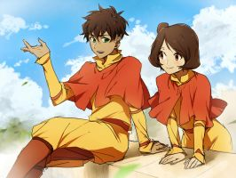Kai and Jinora by CATGIRL0926