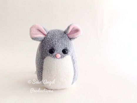 Small Gray Mouse Plushie by Saint-Angel
