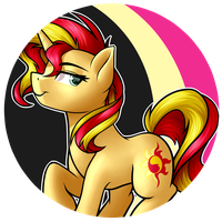 Sunset Button by RubyW32