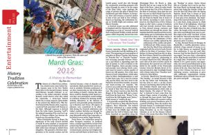 Mardi Gras Magazine Spread by SeeMooreDesigns