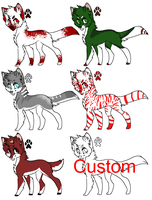Holiday Wolf Point Adopts-OPEN by Crystal-Gryphon