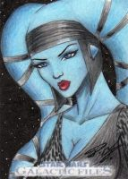 Star Wars GF - Aayla Secura Sketch Art Card by DenaeFrazierStudios