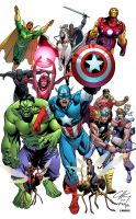 AVENGERS ASSEMBLE by Clayton Henry colored by Dany-Morales